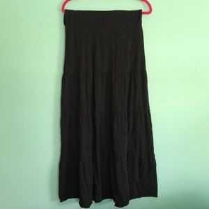 Express yoga waist band maxi skirt medium